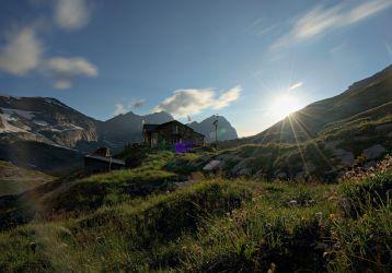 cabane de susanfe - coucher de soleil
