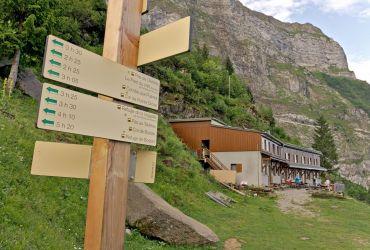 les différentes randonnées au départ du refuge